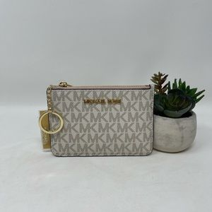 Michael Kors small top zip coin pouch